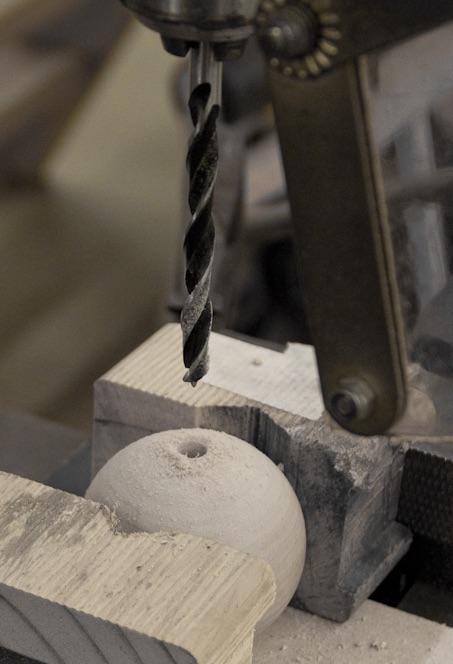 Carl Turner Coat rack - drilling